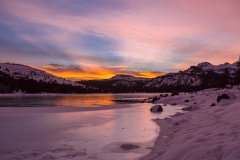 Christmas Eve sunrise at Caples Lake