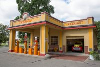 The replica Shell station