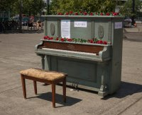 One of several public pianos I saw scattered around