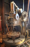 Old vertical lathe for boring out the train wheels
