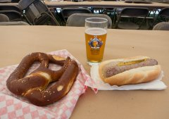 A beer-themed lunch
