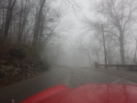 It was a little foggy heading up to Lookout Mountain