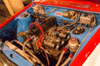 One very strong Datsun L16 motor in the 46 car