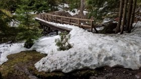 Still some snow on the trail