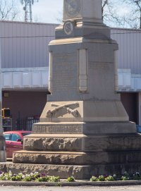 Every little southern town seems to have a Confederate Army memorial in the square