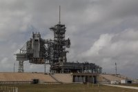 Pad 39A, with the Shuttle launch apparatus still on it (not for long, though)
